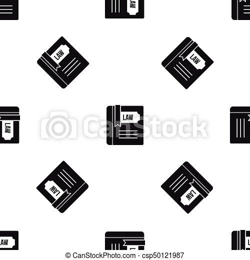 パターン, 法律, 黒, 本, seamless - csp50121987