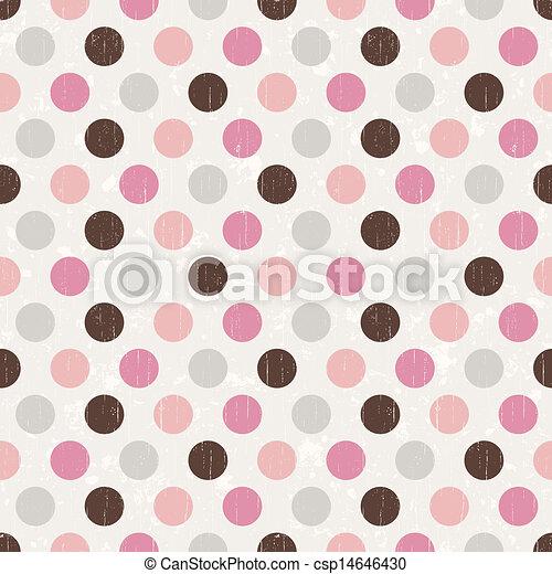 パターン, 点, レトロ, 背景 - csp14646430