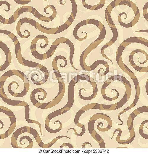 パターン, 砂, らせん状に動く, seamless - csp15386742
