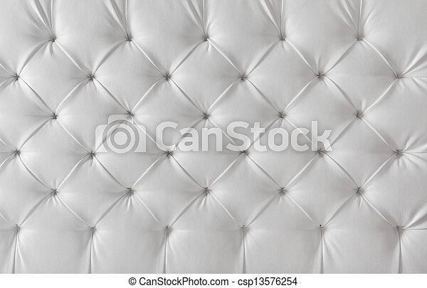 パターン, 背景, 手ざわり, 家具製造販売業, ソファー, 革, 白 - csp13576254
