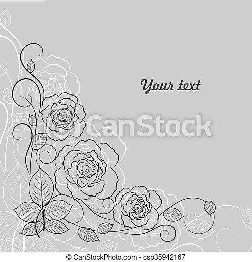 パターン, 黒, 花, 単純である, 白 - csp35942167