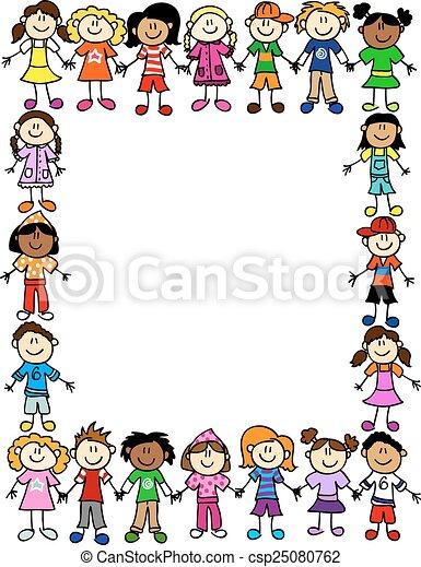 パターン, 2, 友情, seamless, 子供 - csp25080762