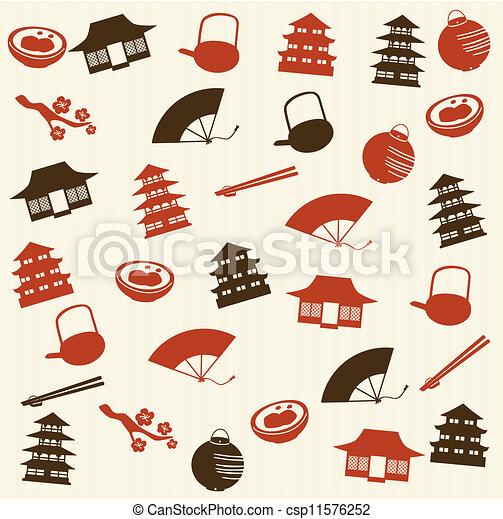 パターン, 2, 日本語, seamless - csp11576252