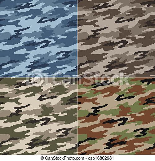 パターン, seamless, カモフラージュ - csp16802981