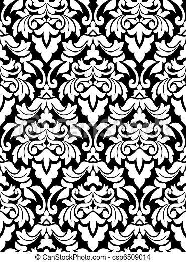 パターン, seamless, ダマスク織 - csp6509014