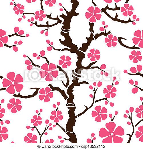 パターン, -, seamless, ブランチ, sakura - csp13532112