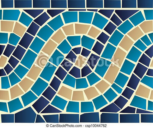 パターン, seamless, モザイク, 波 - csp10044762