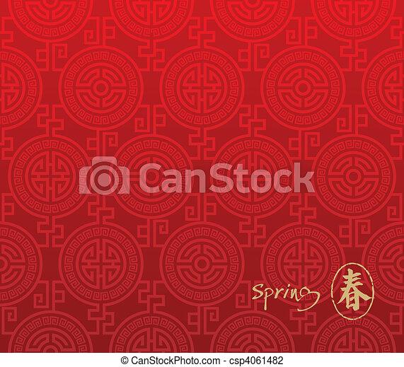 パターン, seamless, 中国語 - csp4061482