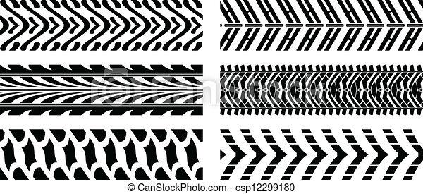 パターン, tyre - csp12299180