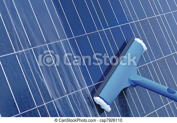 パネル, 清掃, 太陽 - csp7926110