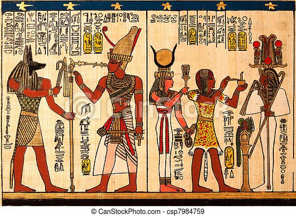 パピルス, エジプト人 - csp7984759