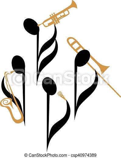 パフォーマンス, ジャズ - csp40974389