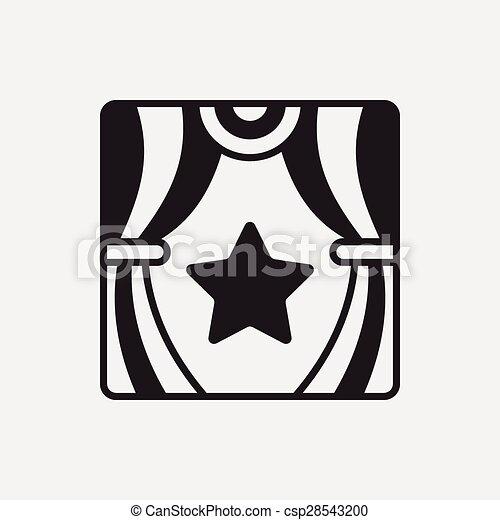 パフォーマンス, ステージ, アイコン - csp28543200