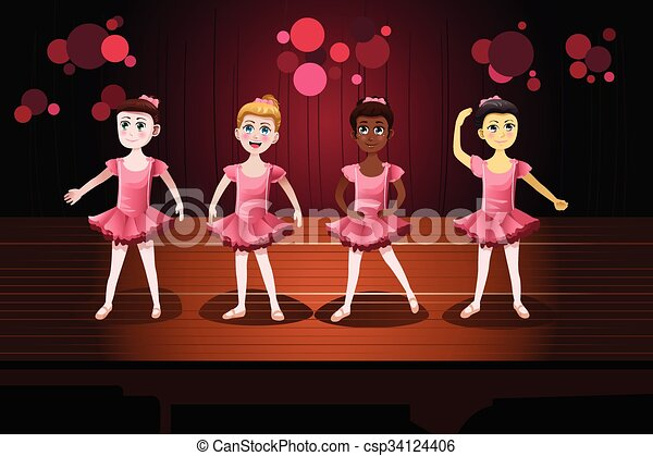 パフォーマンス, バレエ, 女の子 - csp34124406