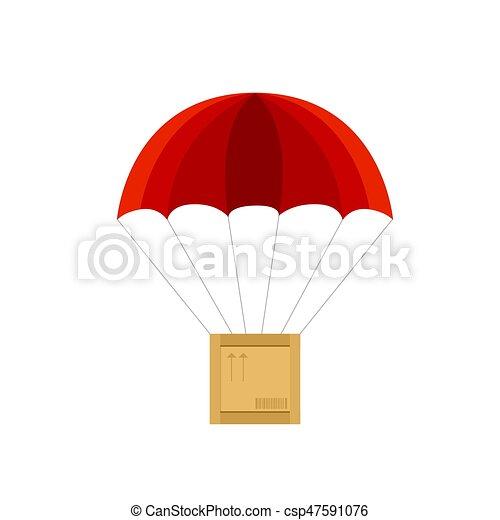 パラシュート ベクトル 木枠 赤 イラスト 木製の木枠 イラスト
