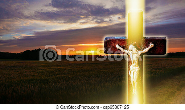 パラダイス, 空, 背景, ライト, 天国, 宗教 - csp65307125