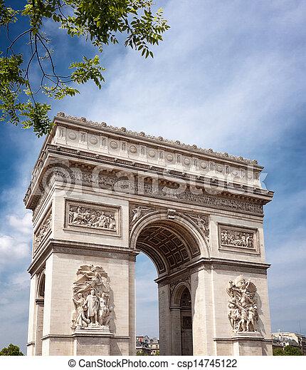 パリ, アーチ, 勝利 - csp14745122