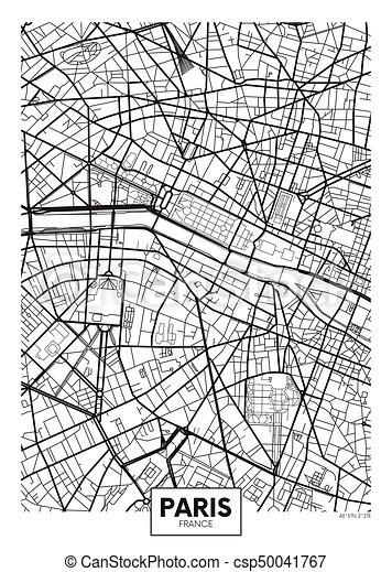 パリ ポスター 地図 ベクトル 都市