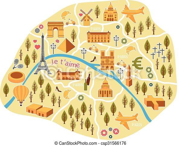 パリ 地図 有用 観光客 対話型である