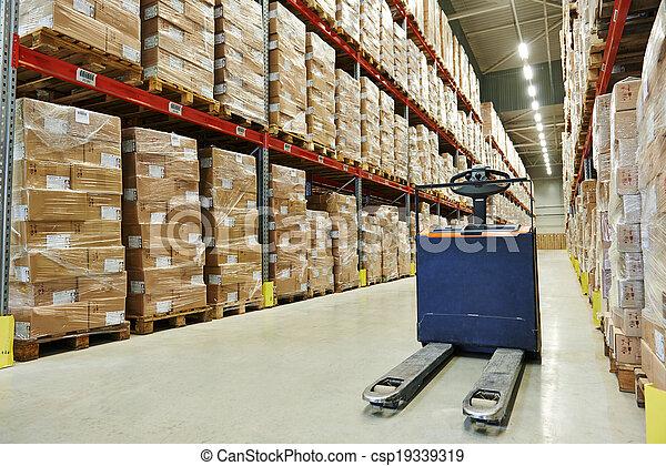 パレット, 倉庫, stacker, トラック - csp19339319