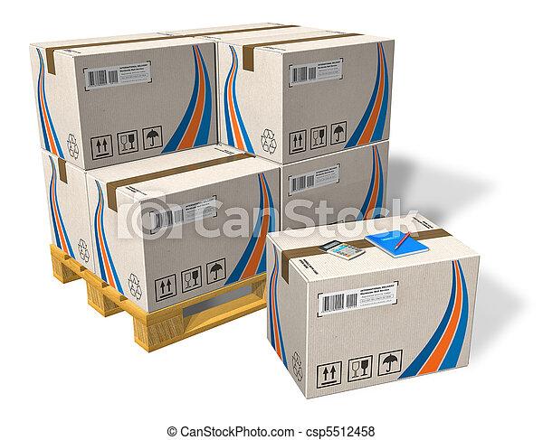 パレット, 箱, ボール紙 - csp5512458