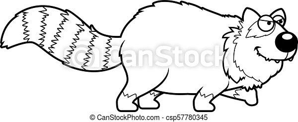 パンダ, 漫画, 赤, もったいぶって歩く - csp57780345