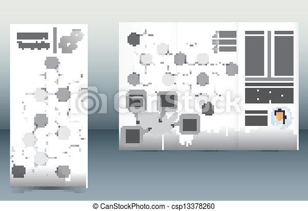 パンフレット, テンプレート - csp13378260