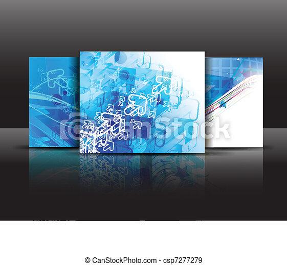 パンフレット, テンプレート - csp7277279
