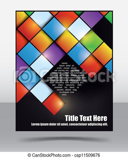 パンフレット, デザイン, テンプレート - csp11509676