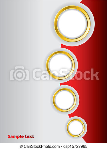 パンフレット, デザイン, 赤い背景, テンプレート - csp15727965