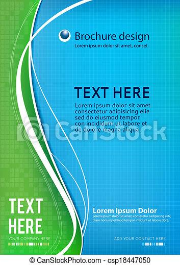 パンフレット, ビジネス, テンプレート - csp18447050