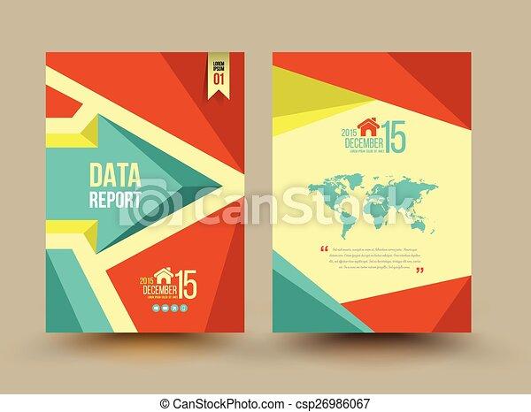 パンフレット, ベクトル, テンプレート, design. - csp26986067