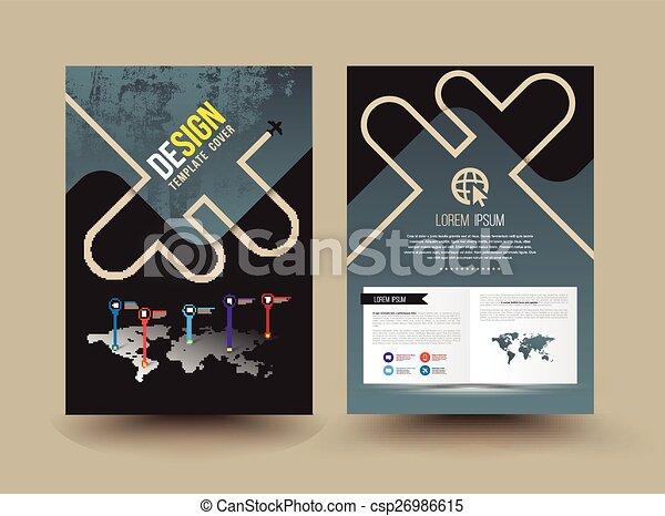 パンフレット, ベクトル, テンプレート, design. - csp26986615