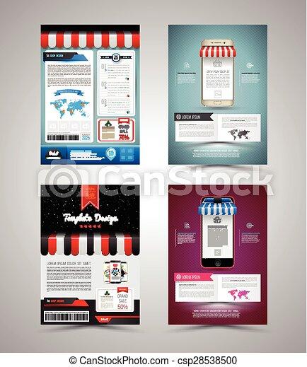 パンフレット, ベクトル, デザイン, テンプレート - csp28538500