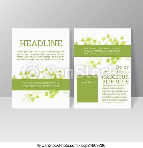 パンフレット, ベクトル, デザイン, テンプレート - csp24609286