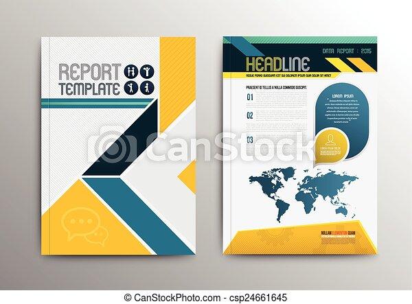 パンフレット, ベクトル, デザイン, テンプレート - csp24661645