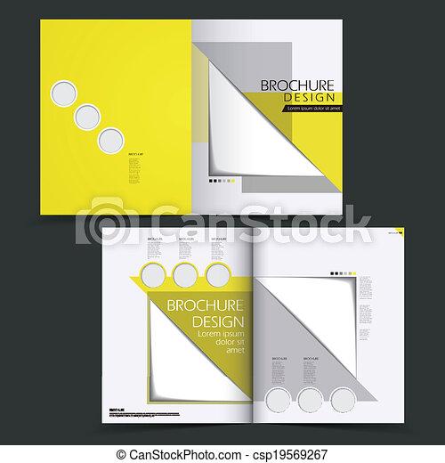 パンフレット, レイアウト, ベクトル, デザイン, テンプレート - csp19569267
