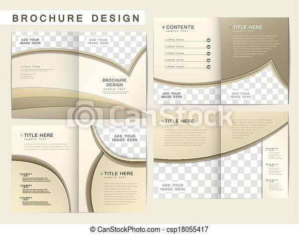 パンフレット, レイアウト, ベクトル, デザイン, テンプレート - csp18055417