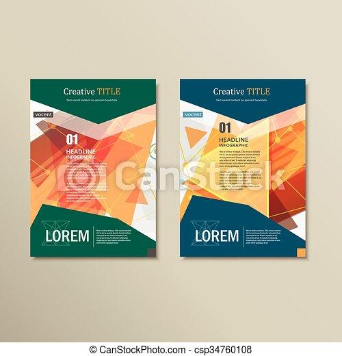 パンフレット, レイアウト, ベクトル, デザイン, テンプレート - csp34760108