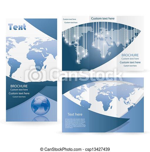 パンフレット, レイアウト, ベクトル, デザイン, テンプレート - csp13427439