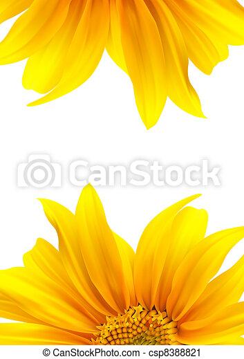 パンフレット, レイアウト, 花, デザイン - csp8388821