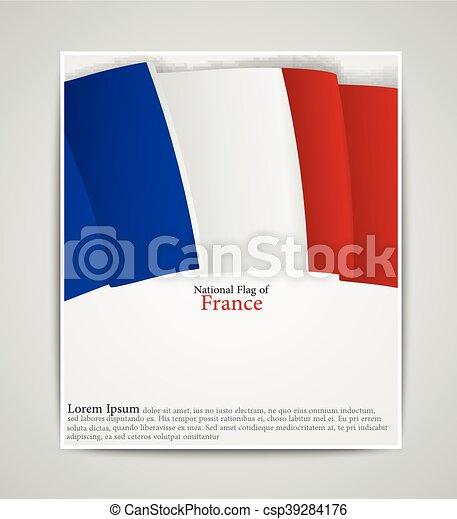 パンフレット 国旗 フランス 国民 イラスト フランスの旗 ベクトル