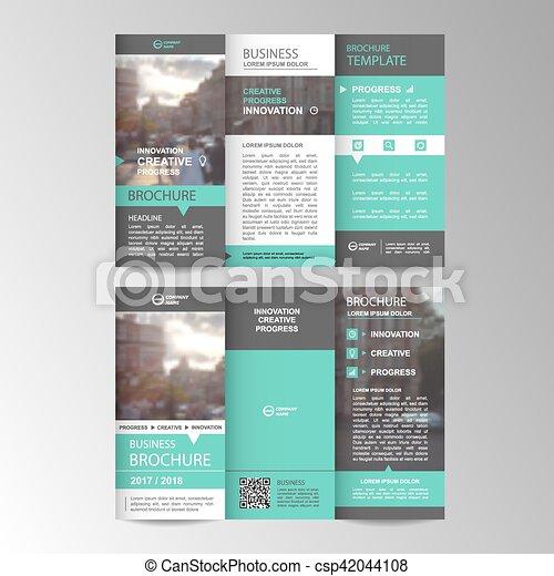 パンフレット, 幾何学的, trifold, ビジネス, テンプレート - csp42044108