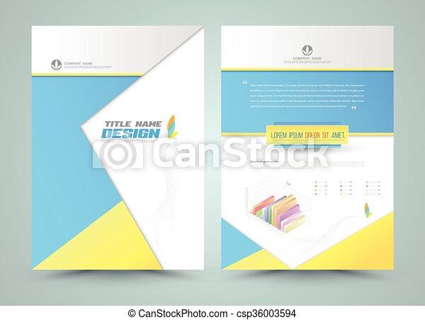 パンフレット, 抽象的, ベクトル, template. - csp36003594