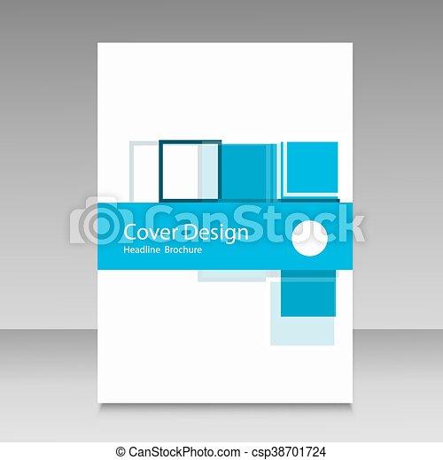 パンフレット, 抽象的, 正方形, デザイン, テンプレート - csp38701724