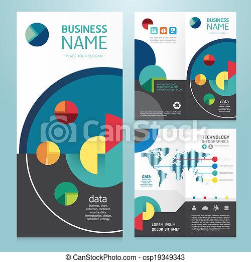 パンフレット, 現代, デザイン, ビジネス, template.vector - csp19349343
