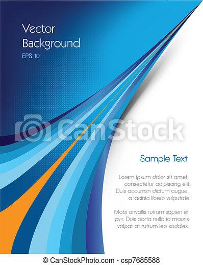 パンフレット, 背景 - csp7685588