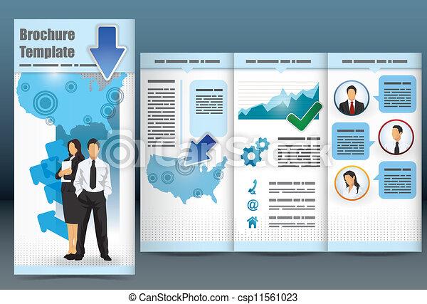 パンフレット, trifold, ビジネス, テンプレート - csp11561023