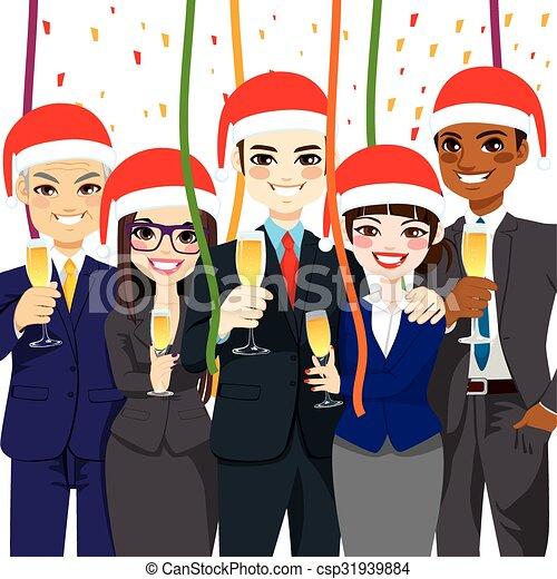 パーティー, クリスマス, ビジネス - csp31939884