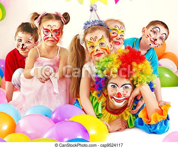 パーティー, birthday, 子供 - csp9524117